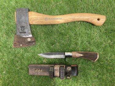 斧(おの)とナイフの比較、薪割りにはナイフが断然おすすめな理由【バトニング】